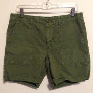 J. Crew Women's Army Green Foundry Shorts 8